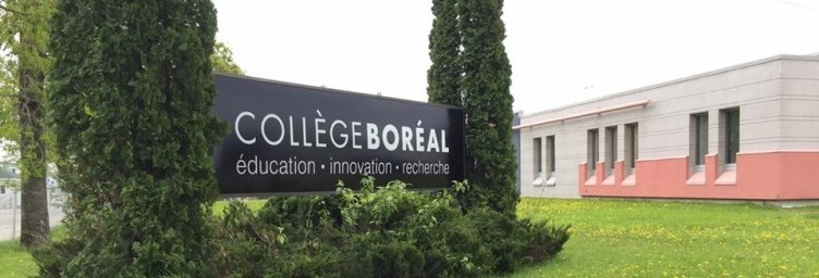 Sign in front of Collège Boréal