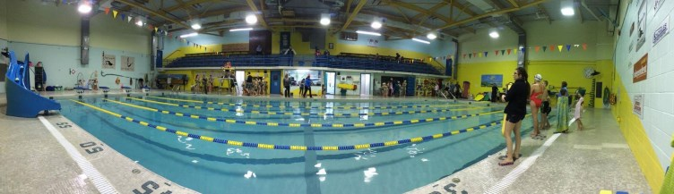 Panoramic view of pool
